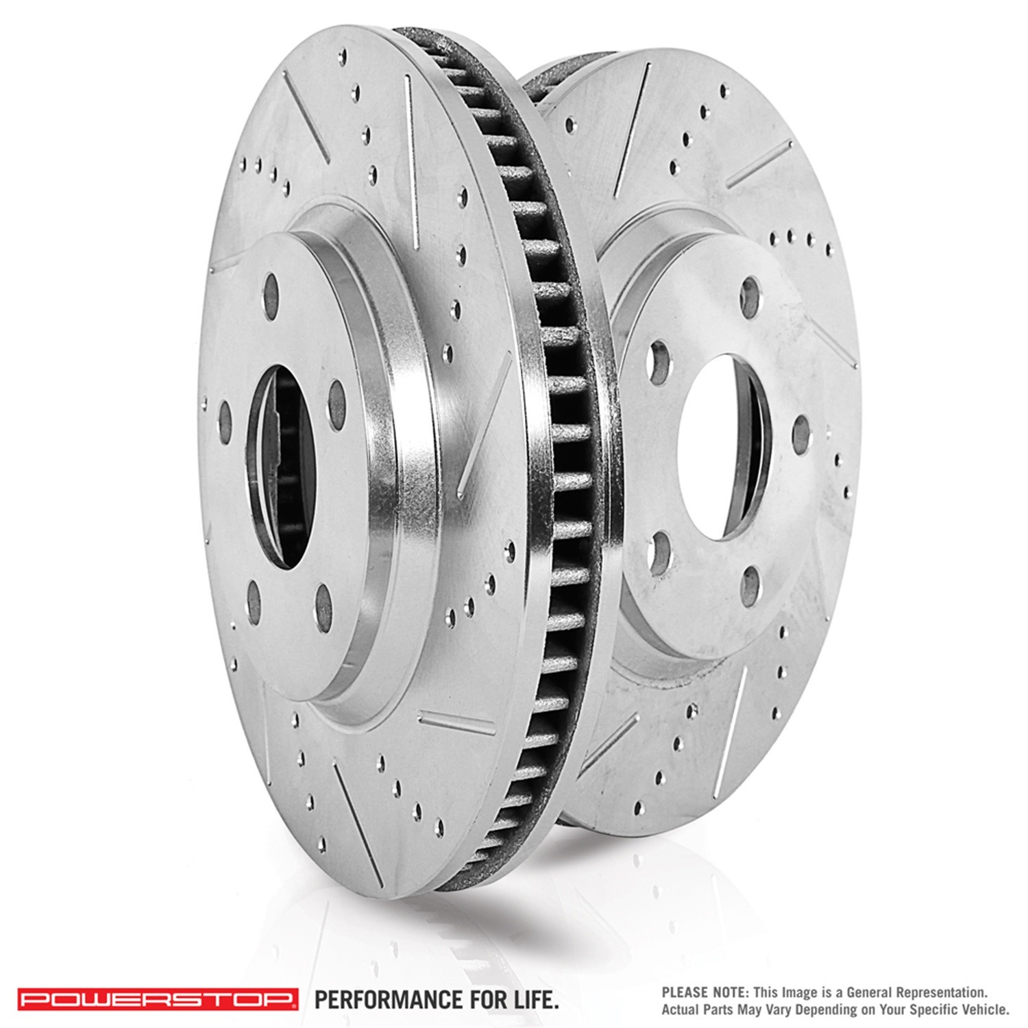POWER STOP XPR - Power Stop Extreme Performance Drilled and Slotted Brake Rotors (Rear) - PWX EBR491XPR