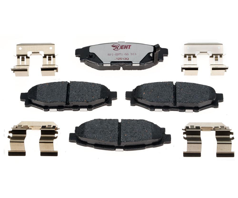 RAYBESTOS - Element3; Hybrid Technology Brake Pad Set (Rear) - RAY EHT1114H