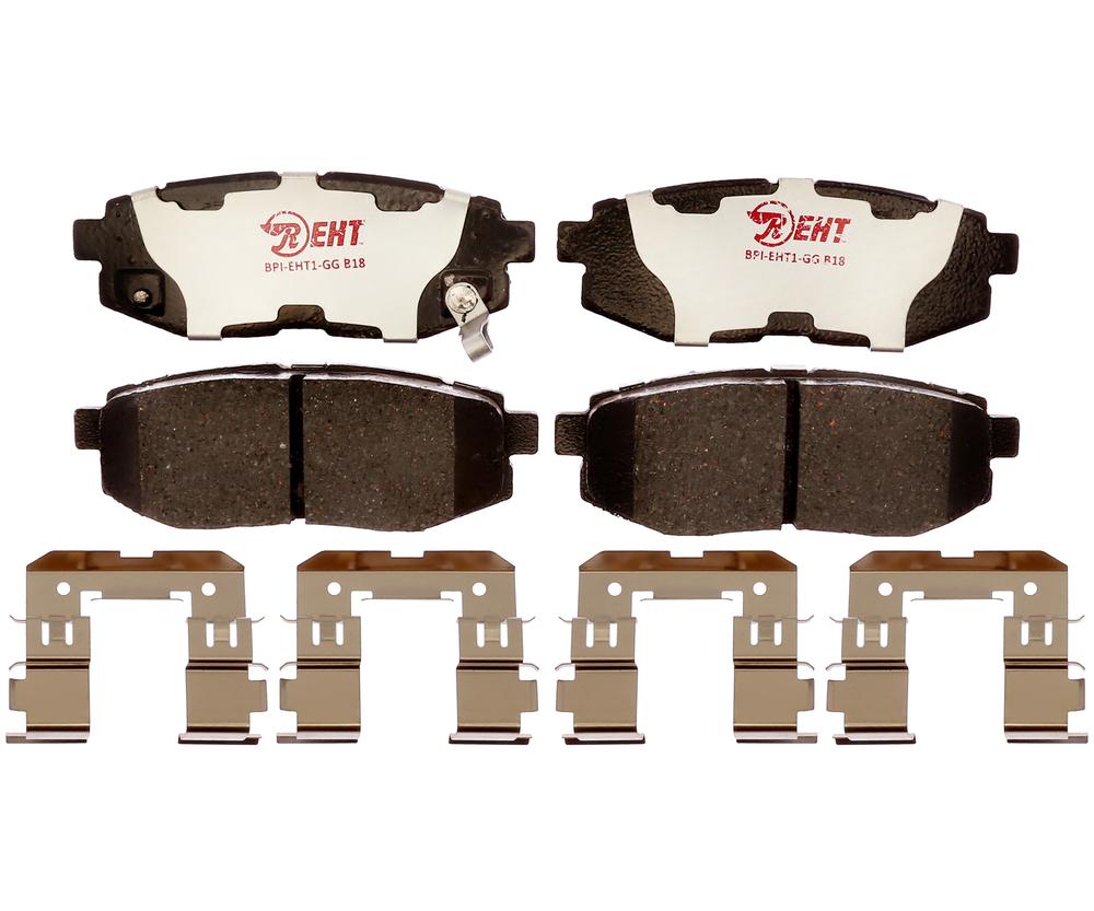 RAYBESTOS - Element3; Hybrid Technology Brake Pad Set (Rear) - RAY EHT1124H