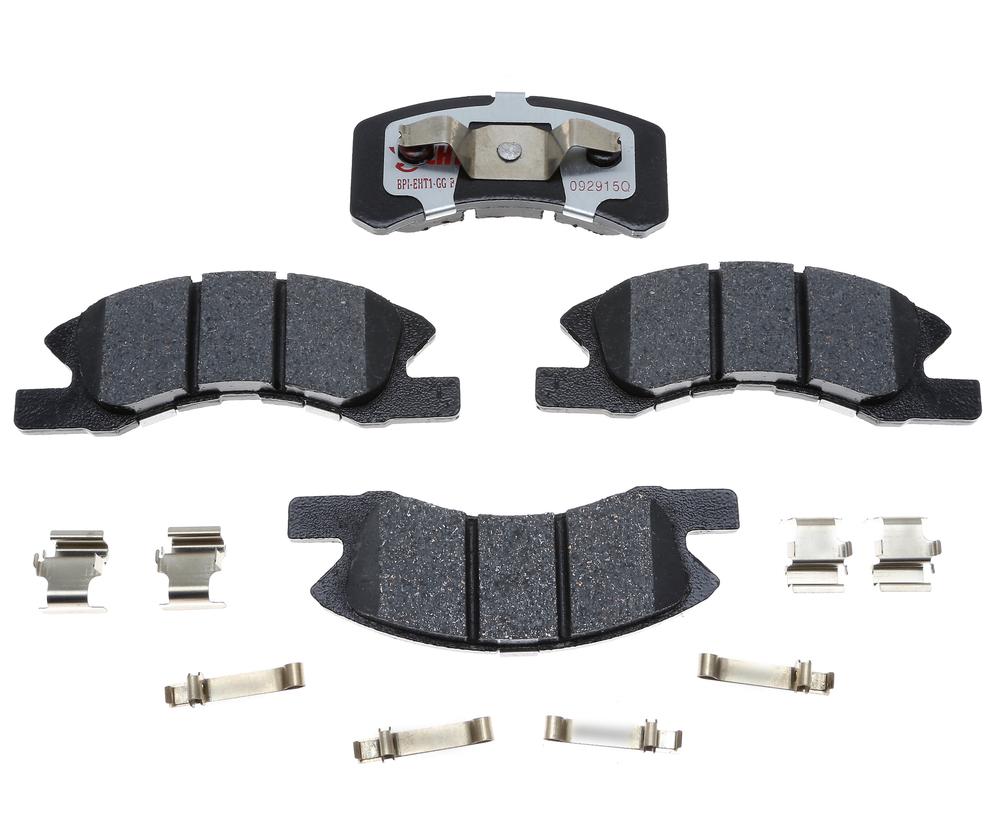 RAYBESTOS - Element3; Hybrid Technology Brake Pad Set (Front) - RAY EHT1731H