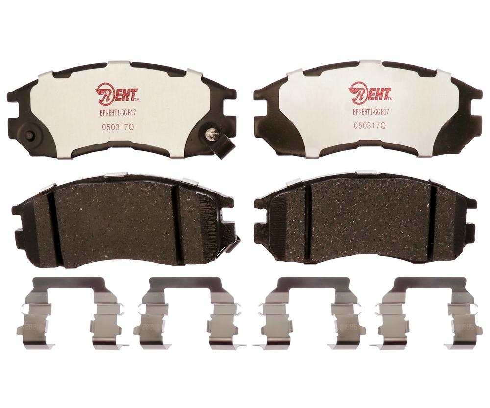 RAYBESTOS - Element3; Hybrid Technology Brake Pad Set (Front) - RAY EHT484H