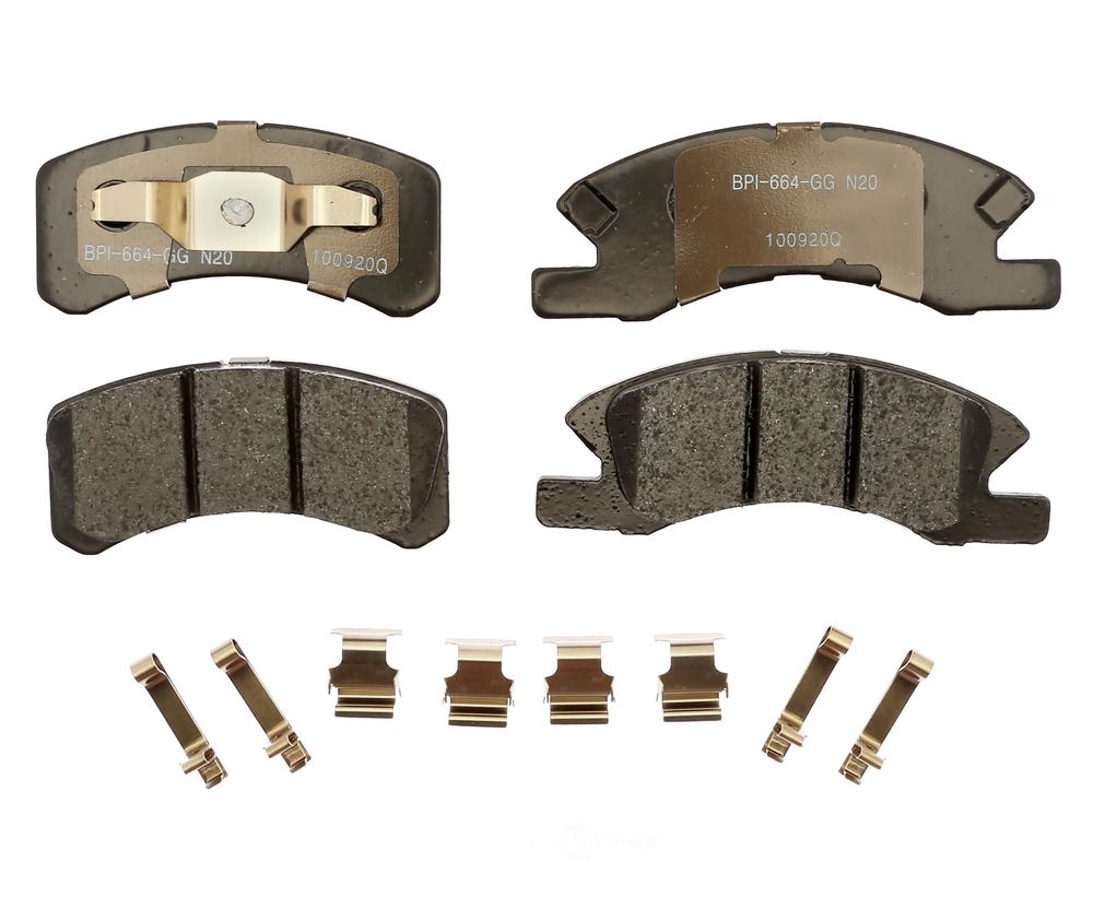RAYBESTOS - R-Line; Ceramic Disc Brake Pad Set (Front) - RAY MGD1731CH