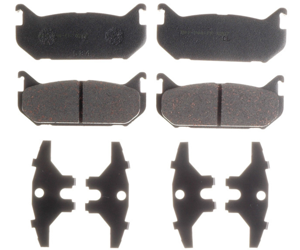 RAYBESTOS - PG Plus Ceramic Disc Brake Pad (Rear) - RAY PGD584C