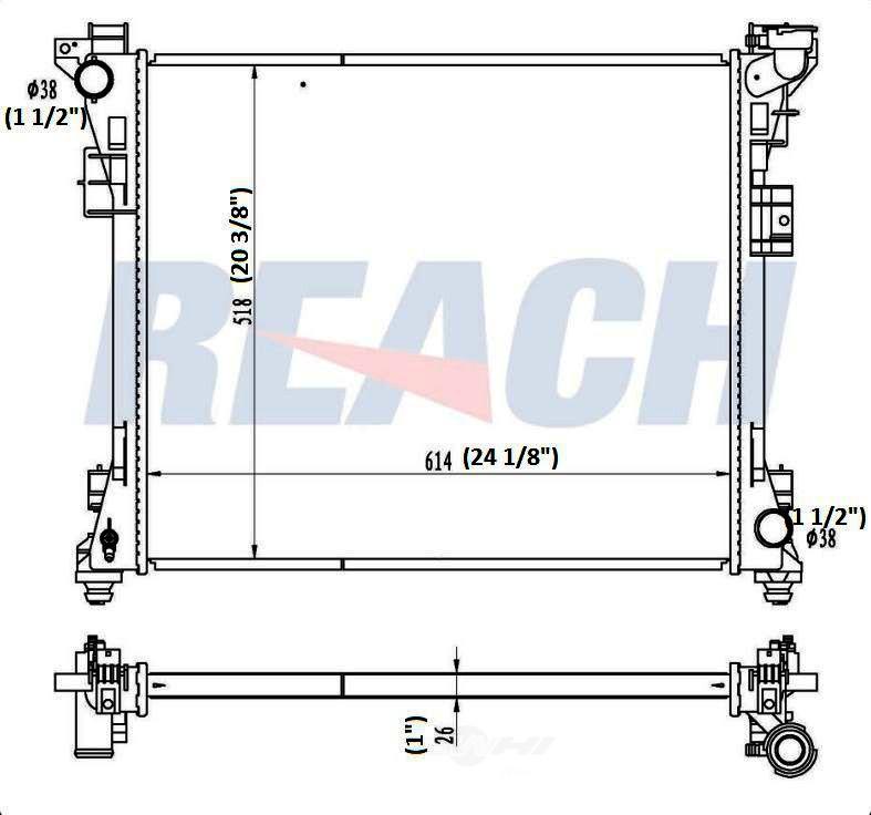 REACH COOLING - Radiator - RCH 41-13062