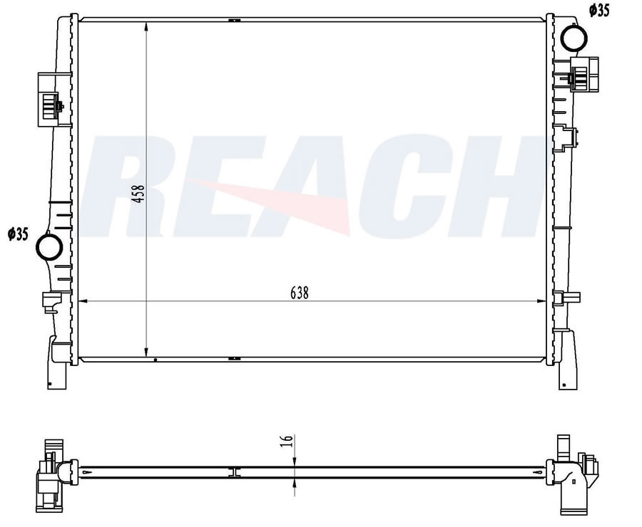REACH COOLING - Radiator - RCH 41-13084