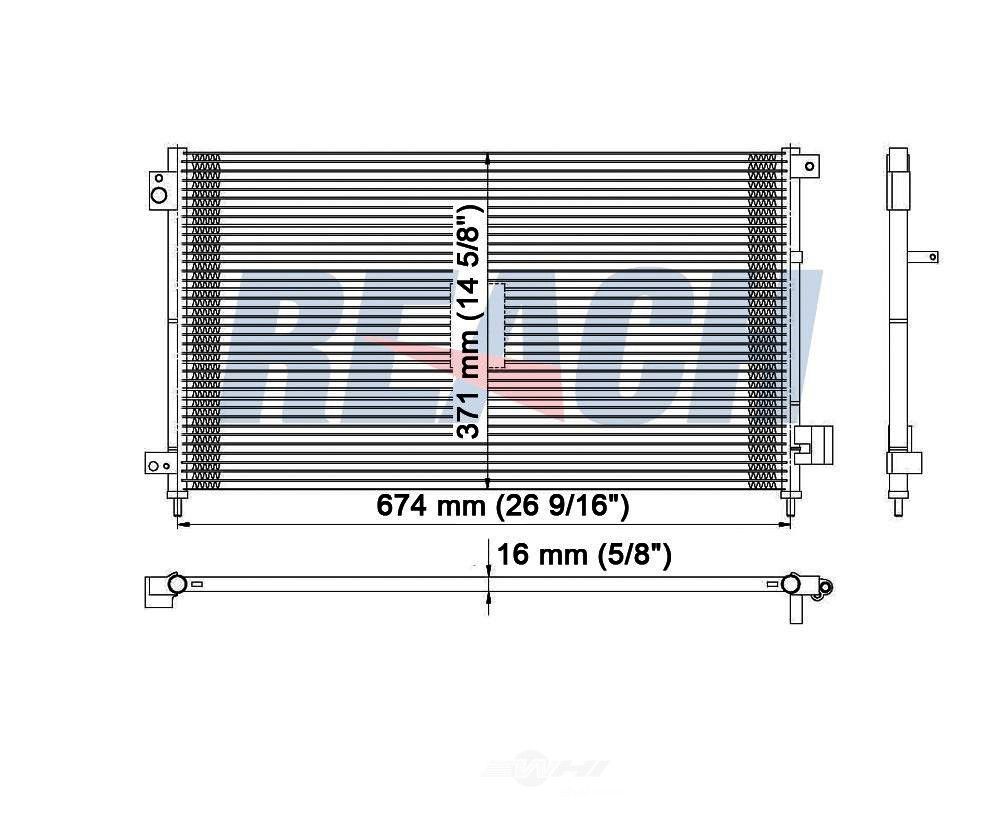 REACH COOLING - A/C Condenser - RCH 31-3086