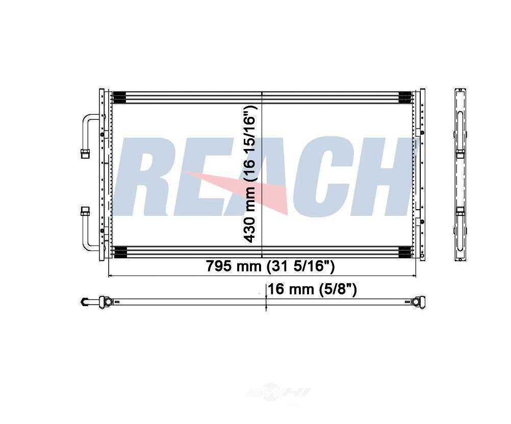 REACH COOLING - A/C Condenser - RCH 31-3092