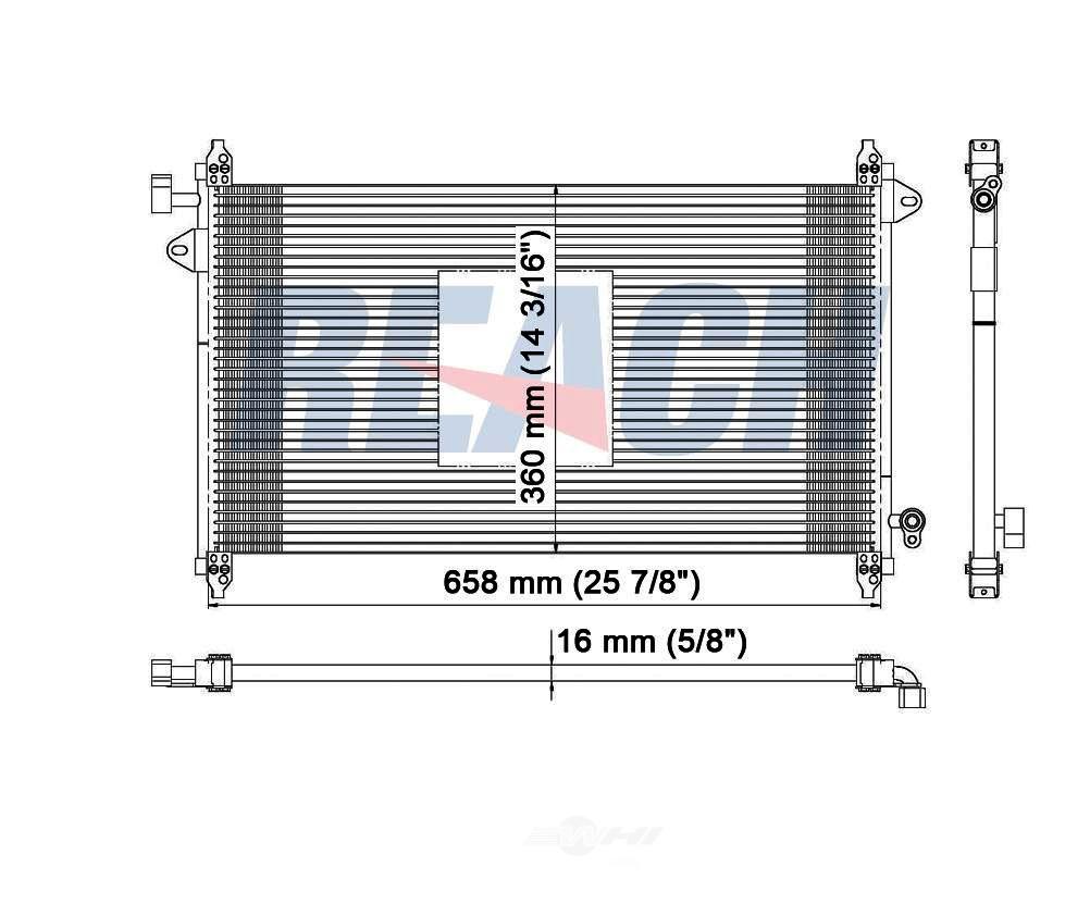 REACH COOLING - A/C Condenser - RCH 31-3362