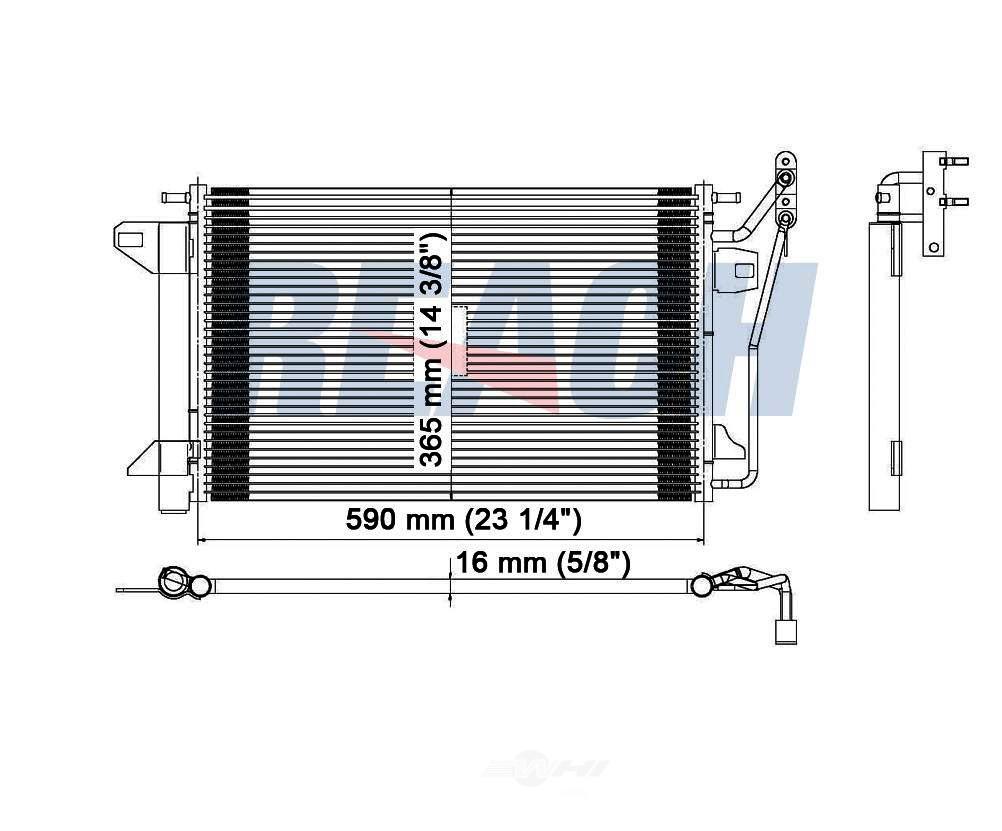 REACH COOLING - A/C Condenser - RCH 31-3390