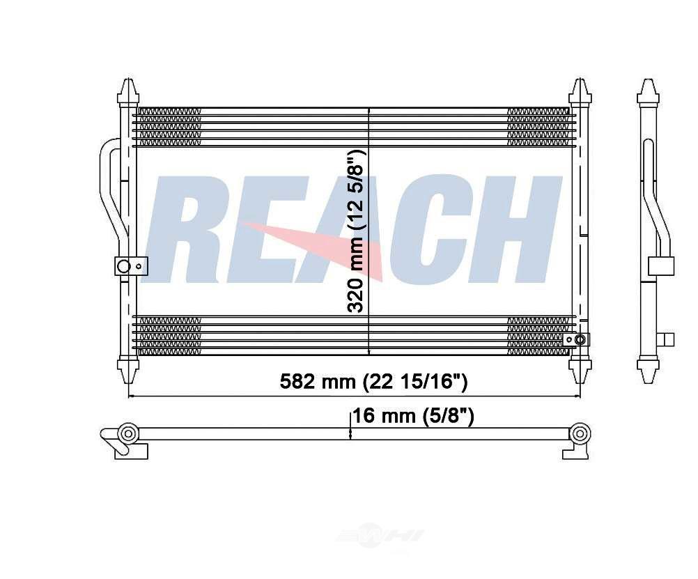 REACH COOLING - A/C Condenser - RCH 31-4562