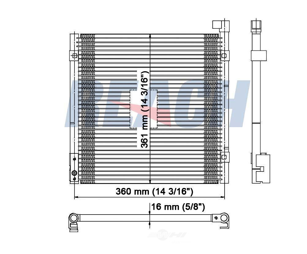 REACH COOLING - A/C Condenser - RCH 31-4730