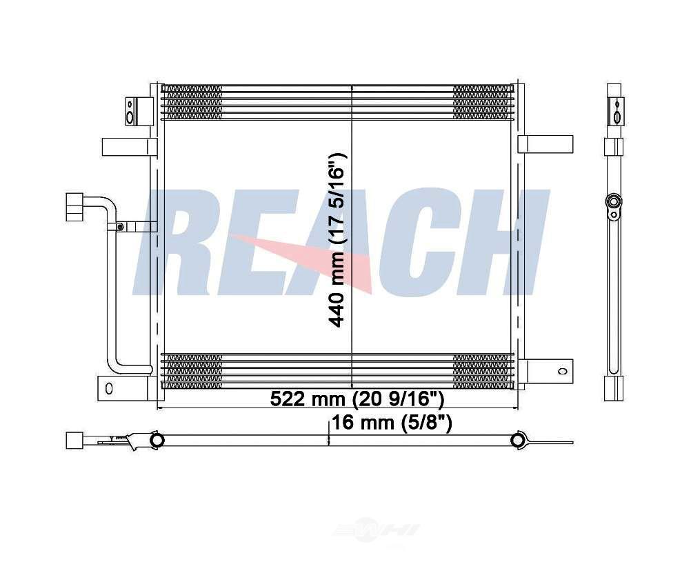 REACH COOLING - A/C Condenser - RCH 31-4929