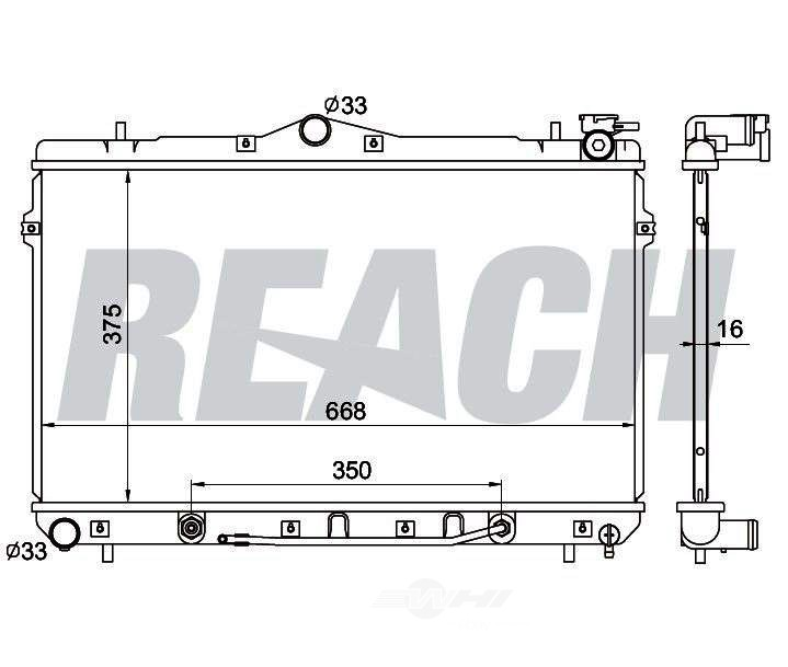 REACH COOLING - Radiator - RCH 41-1897