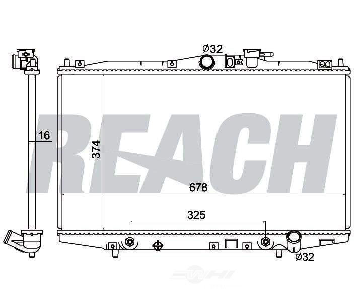 REACH COOLING - Radiator - RCH 41-2148