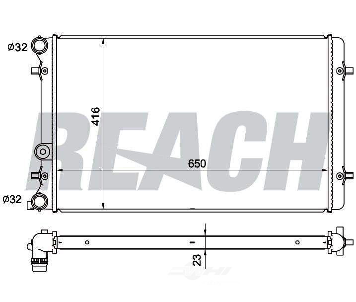 REACH COOLING - Radiator - RCH 41-2265
