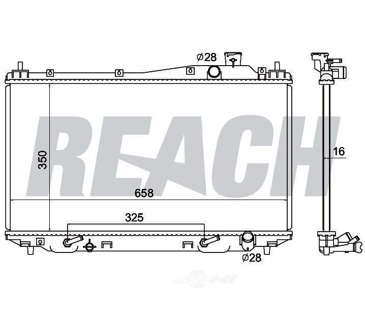 REACH COOLING - Radiator - RCH 41-2354