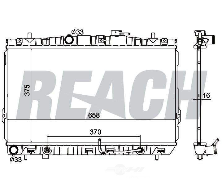 REACH COOLING - Radiator - RCH 41-2387
