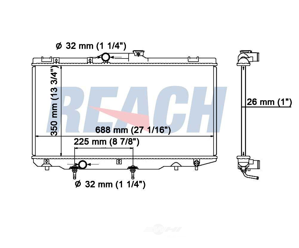 REACH COOLING - Radiator - RCH 41-1409