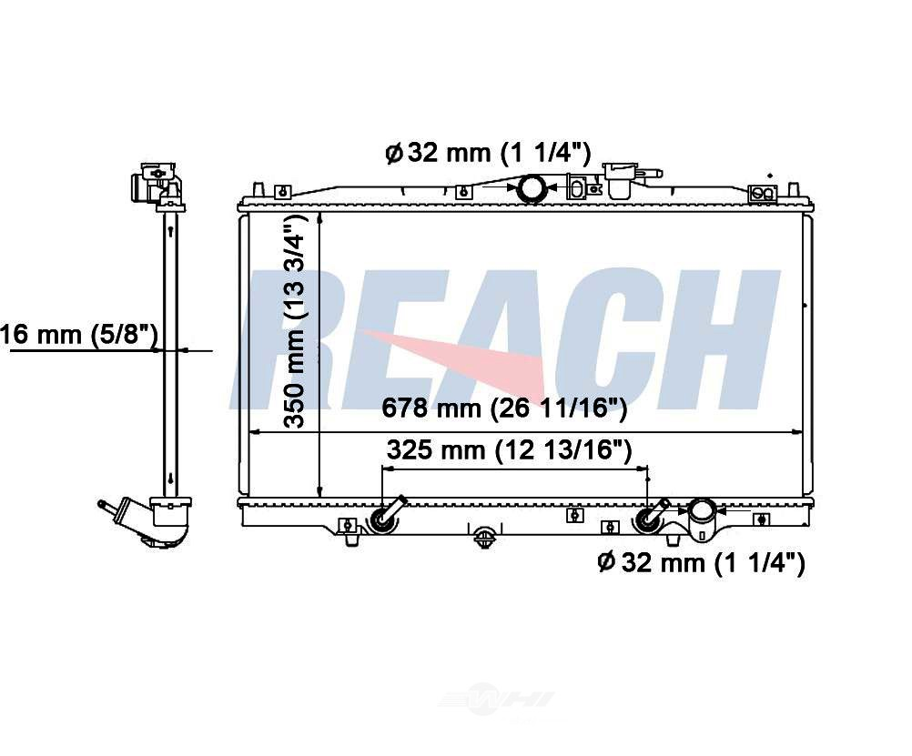 REACH COOLING - Radiator - RCH 41-1494