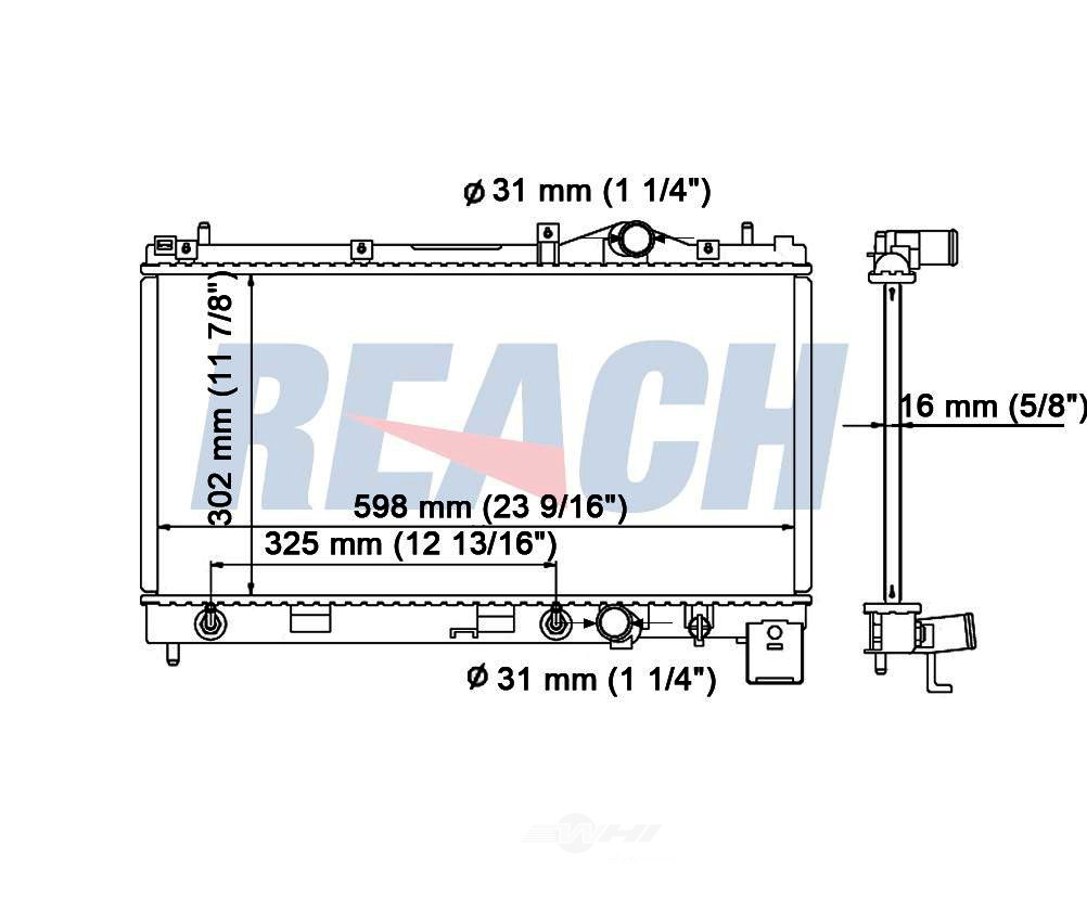 REACH COOLING - Radiator - RCH 41-1548