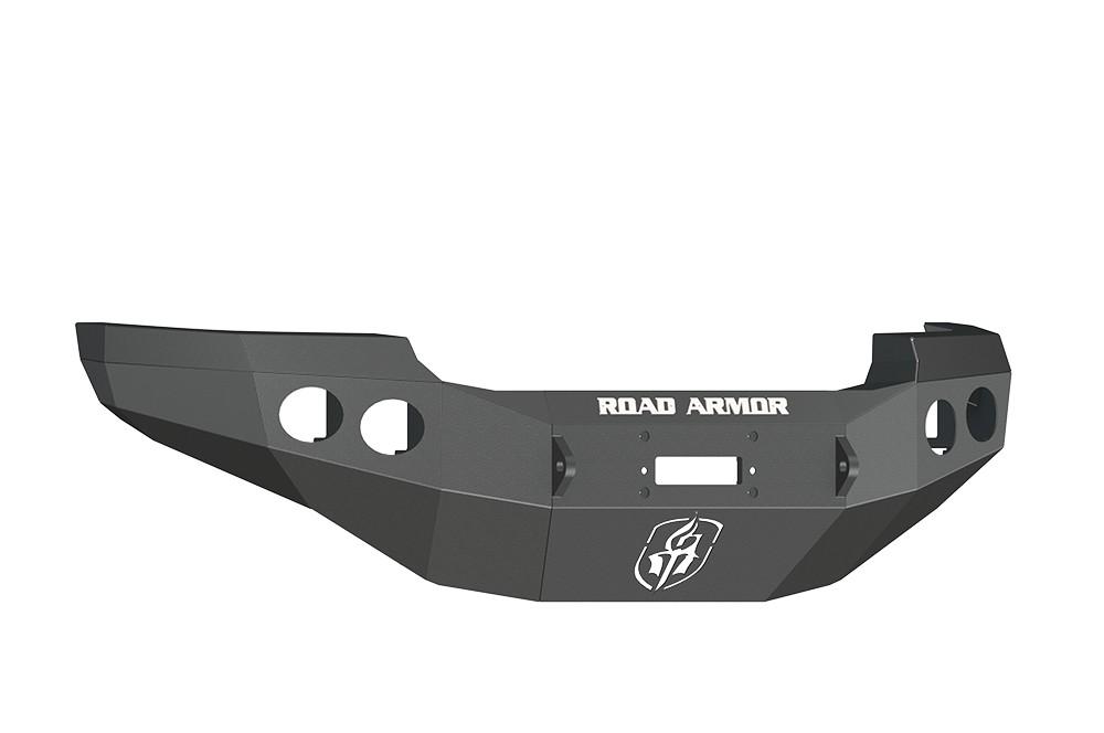ROAD ARMOR - GMC 2500,3500 11-14 Front Stealth Winch Bumper Round Light Port Black (Front) - RDA 38400B