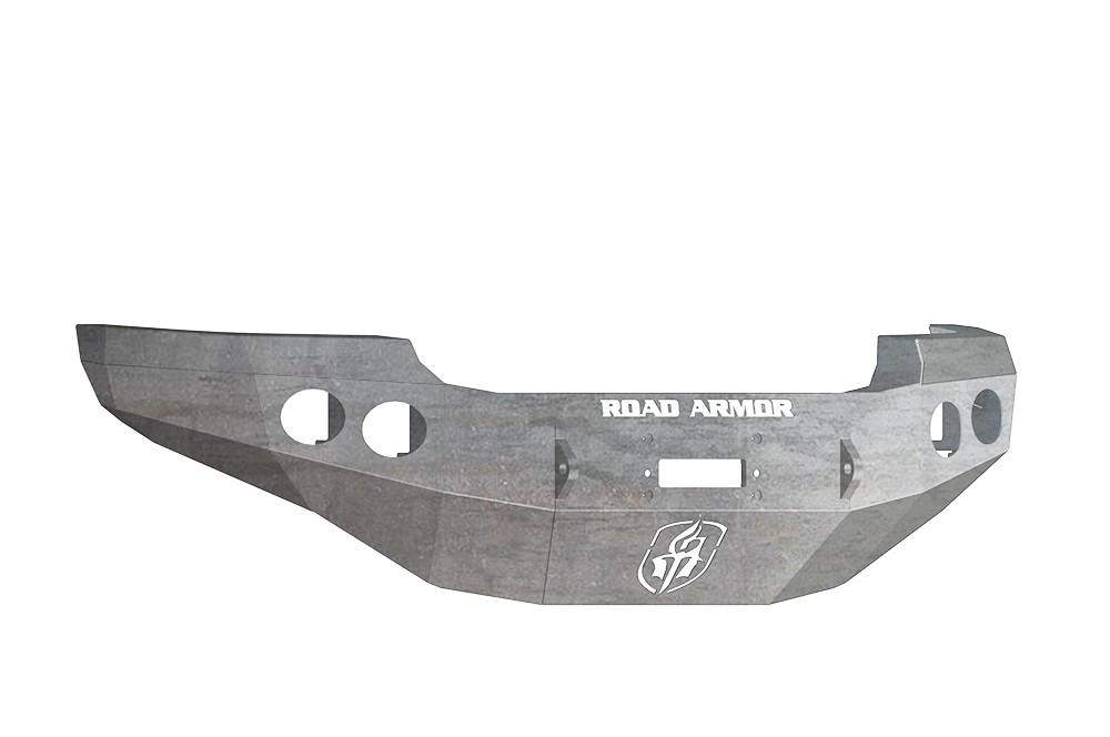 ROAD ARMOR - GMC 2500,3500 11-14 Front Stealth Winch Bumper Round Light Port Raw (Front) - RDA 38400Z