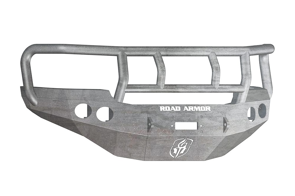 ROAD ARMOR - GMC 2500,3500 11-14 Front Stealth Winch Bumper Round Light Port Titan II (Front) - RDA 38402Z