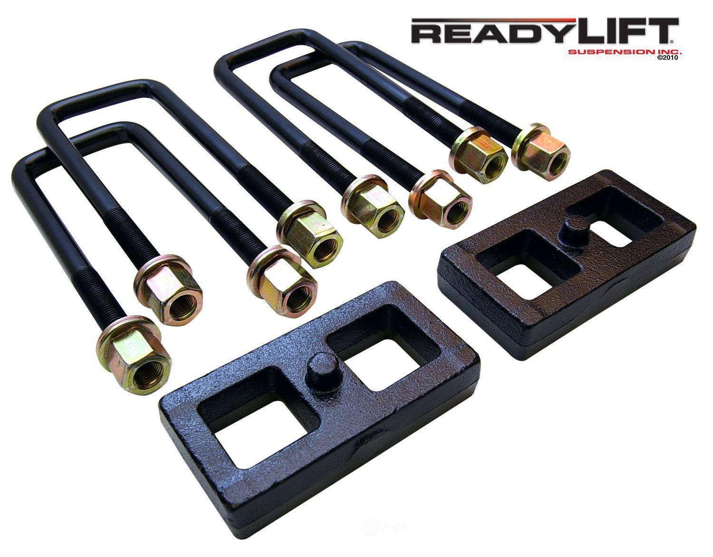 READY LIFT - 1.0 in. Leaf Spring Axle U-Bolt Kit (Rear) - RLT 66-5001