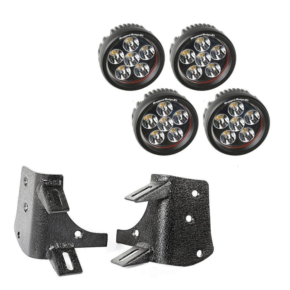 RUGGED RIDGE - A-Pillar LED Kit - RUG 11232.37