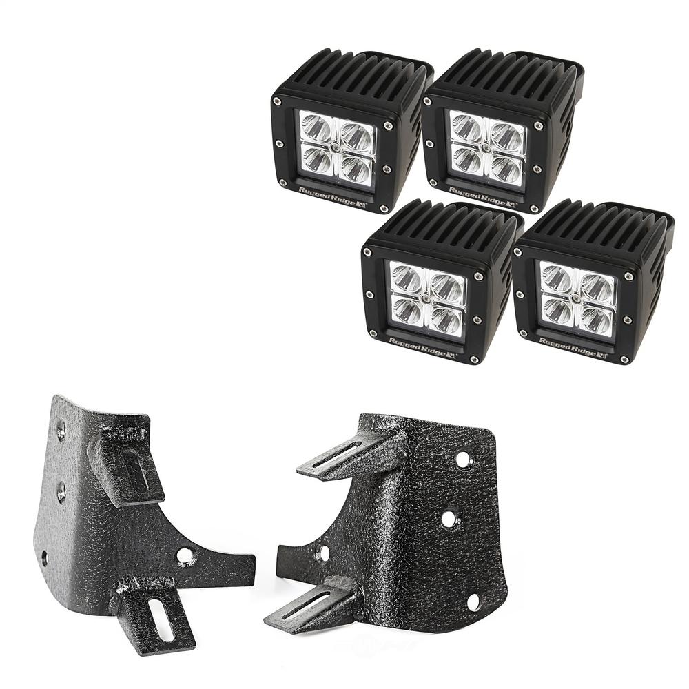 RUGGED RIDGE - A-Pillar LED Kit - RUG 11232.38