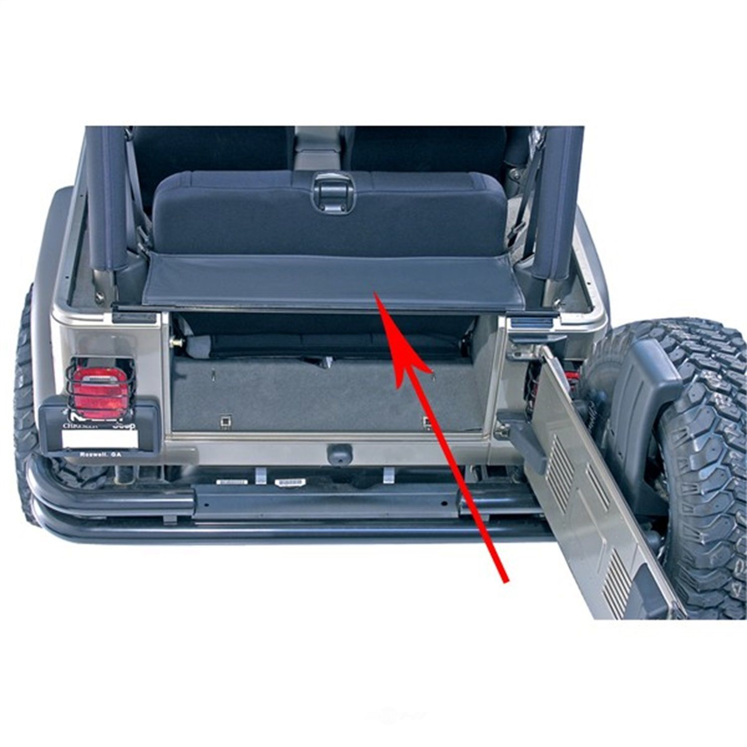 RUGGED RIDGE - Replacement Tailgate Bar/Tonneau Cover - RUG 13550.01