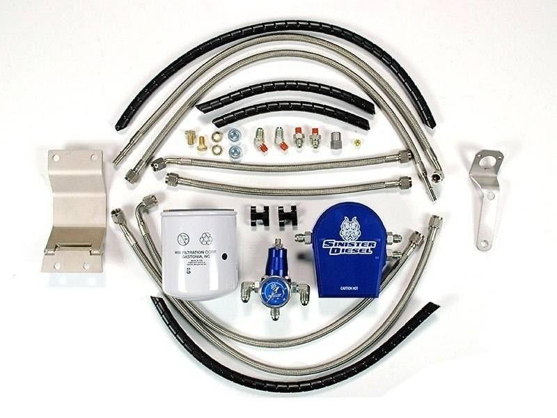 SINISTER DIESEL - Regulated Fuel Return Kit for Ford 7.3L w/ Integrated Fuel Filter - SND SD-FUELREG-7.3