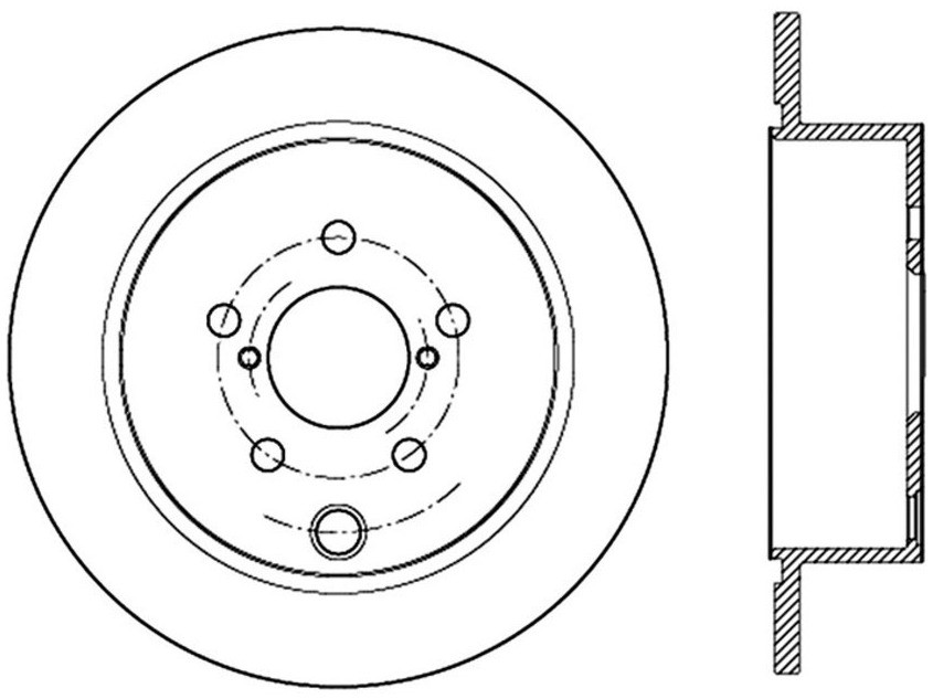 STOPTECH - StopTech Sport Slotted Disc Brake Rotors (Rear Left) - SOH 126.47033SL