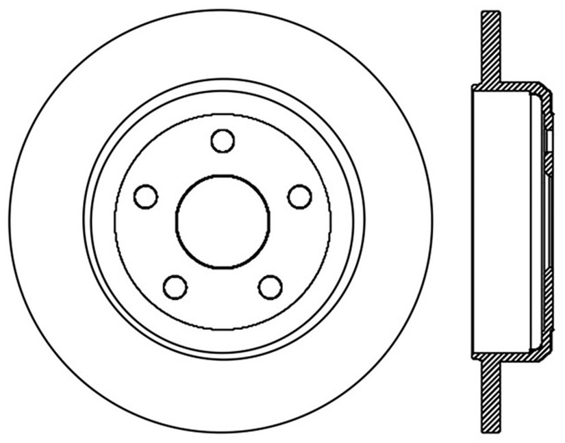 STOPTECH - StopTech Sport Slotted Disc Brake Rotors - SOH 126.58005SL