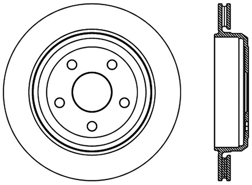 STOPTECH - StopTech Sport Slotted Disc Brake Rotors - SOH 126.58007SL