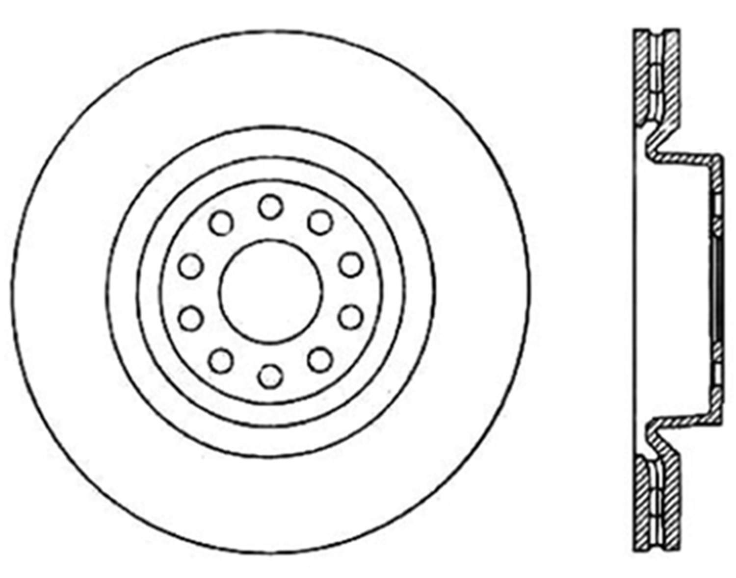 STOPTECH - StopTech Sport Cross-Drilled & Slotted Disc Brake Rotors - SOH 127.33092R