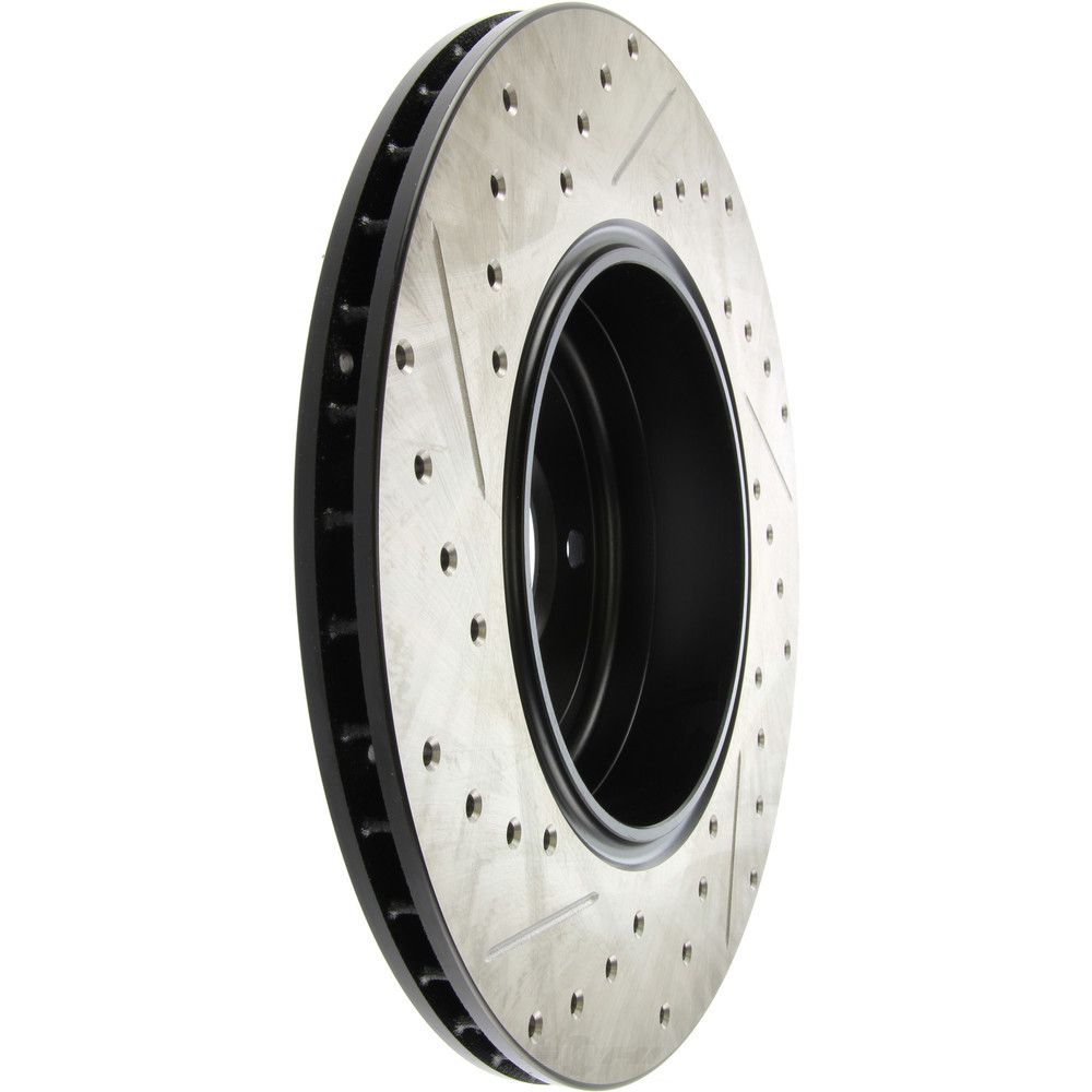 STOPTECH - StopTech Sport Cross-Drilled & Slotted Disc Brake Rotors - SOH 127.34072L