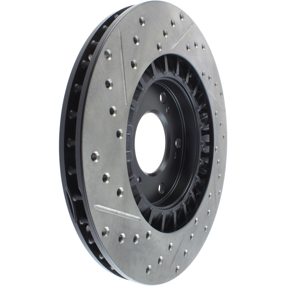 STOPTECH - StopTech Sport Cross-Drilled & Slotted Disc Brake Rotors - SOH 127.40048L