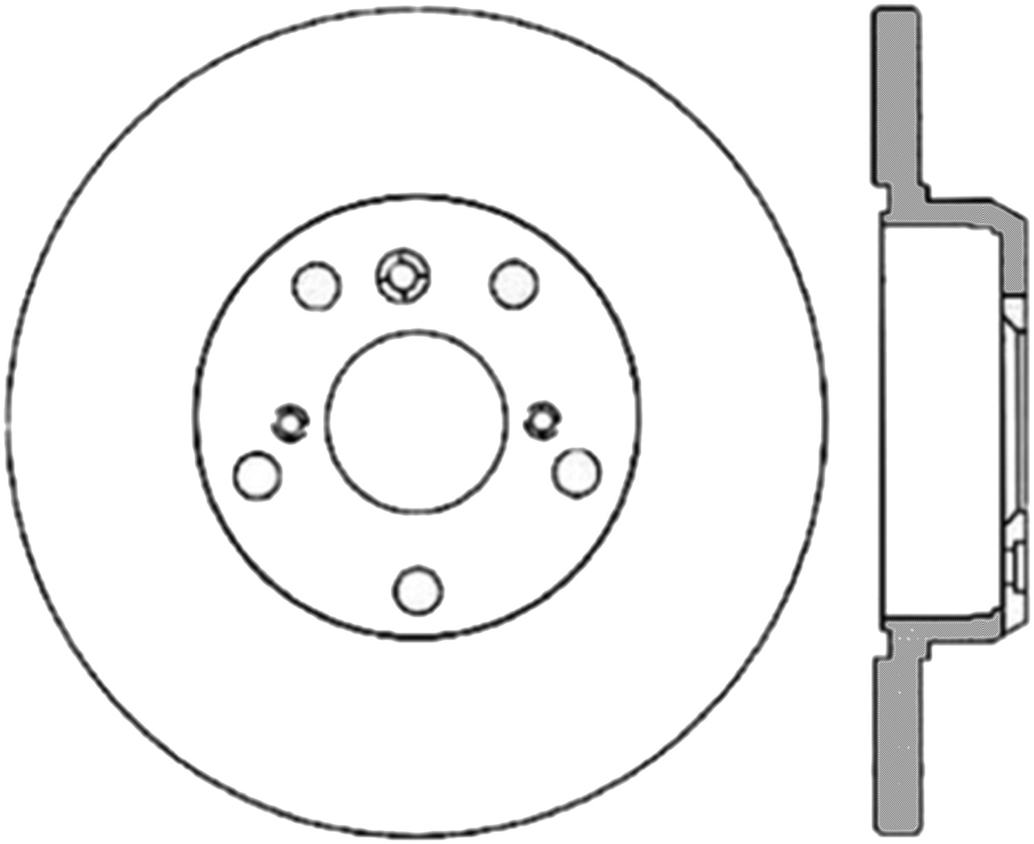 STOPTECH - StopTech Sport Cross-Drilled & Slotted Disc Brake Rotors - SOH 127.44089L