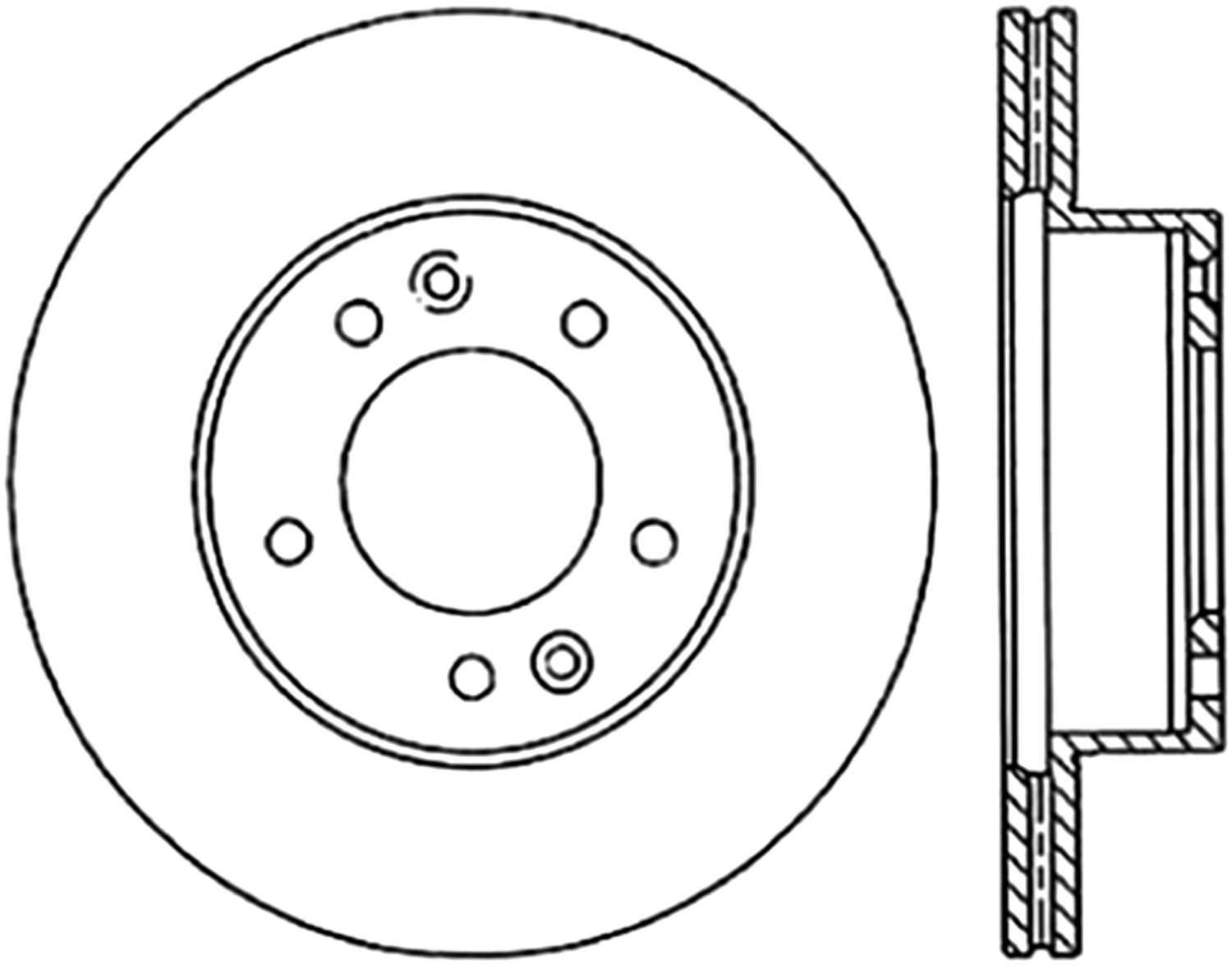 STOPTECH - StopTech Sport Cross-Drilled & Slotted Disc Brake Rotors - SOH 127.45022L