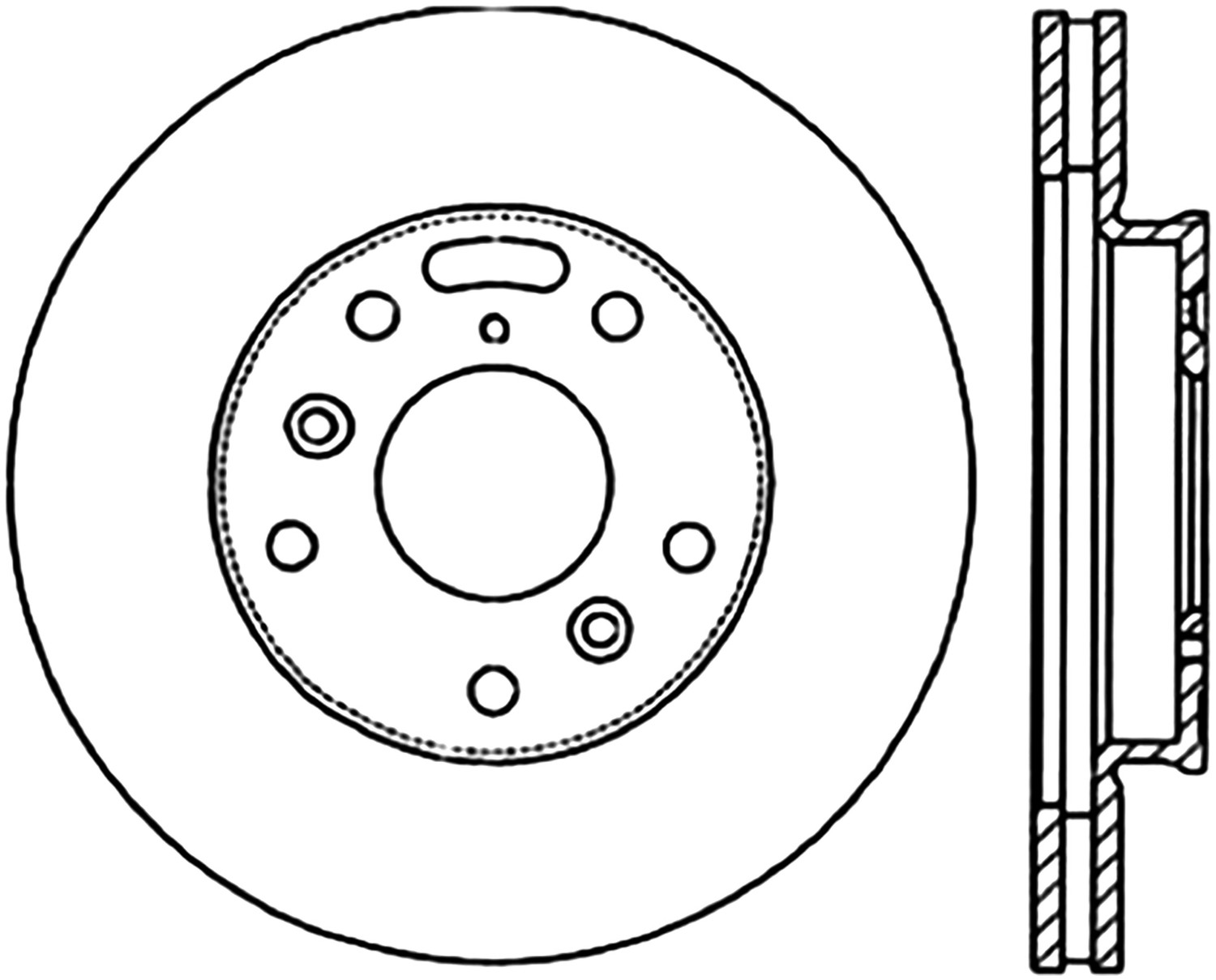 STOPTECH - StopTech Sport Drilled/Slotted Disc (Front Right) - SOH 127.45026R