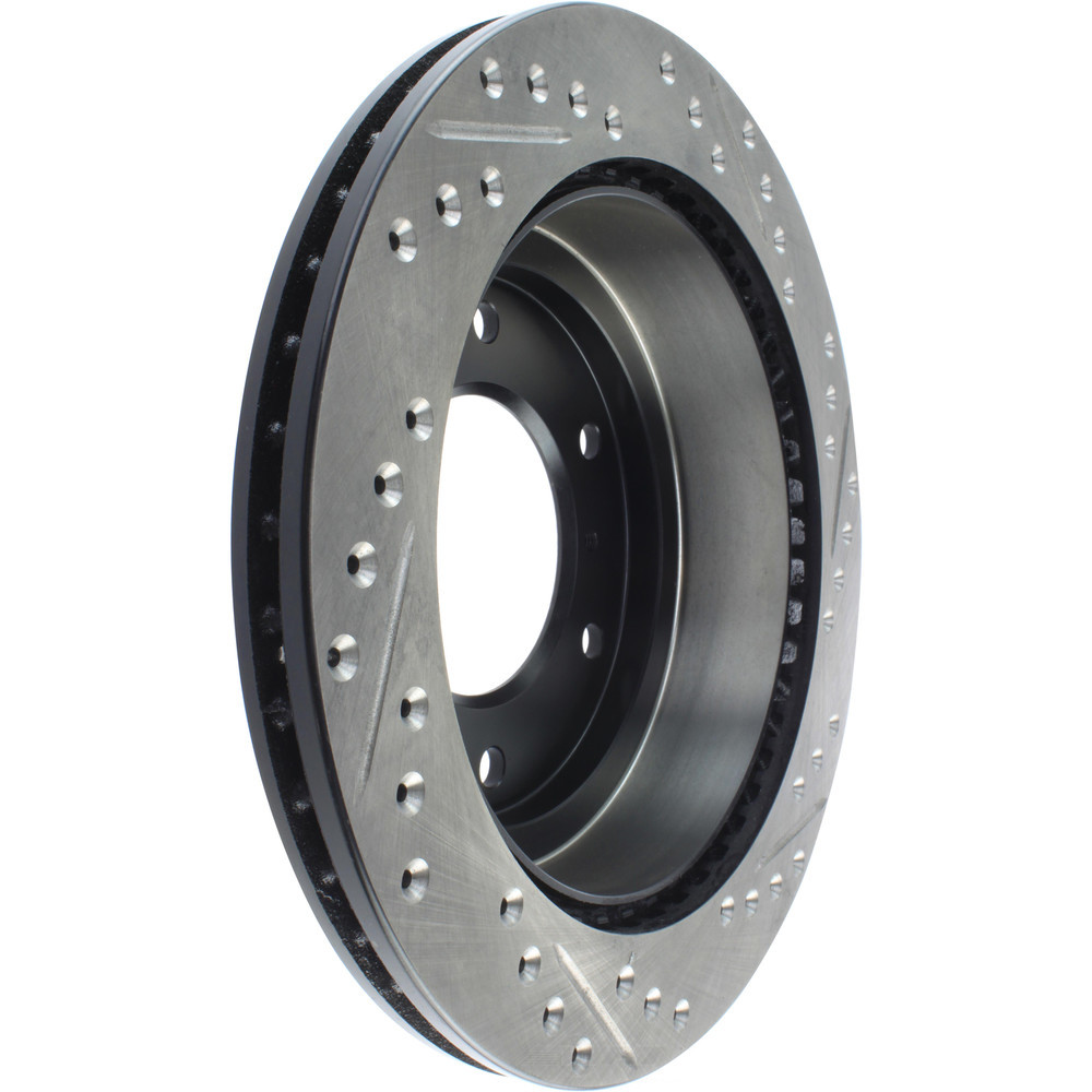 STOPTECH - StopTech Sport Cross-Drilled & Slotted Disc Brake Rotors - SOH 127.46063R
