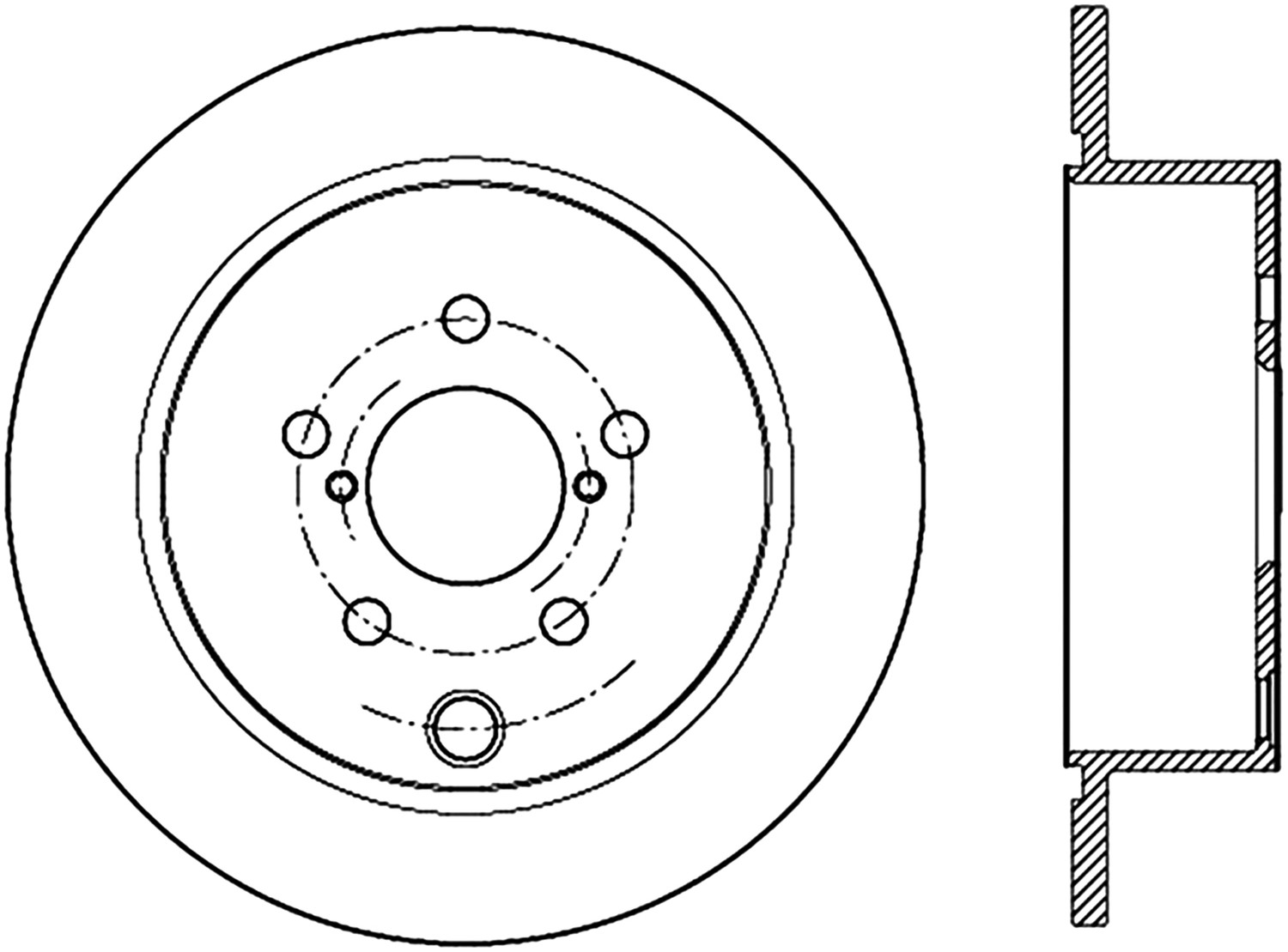 STOPTECH - StopTech Sport Cross-Drilled & Slotted Disc Brake Rotors (Rear Left) - SOH 127.47033L