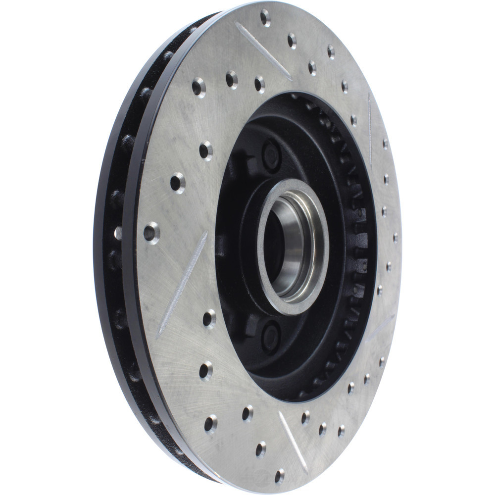 STOPTECH - StopTech Sport Cross-Drilled & Slotted Disc Brake Rotors (With ABS Brakes, Front Right) - SOH 127.62013R