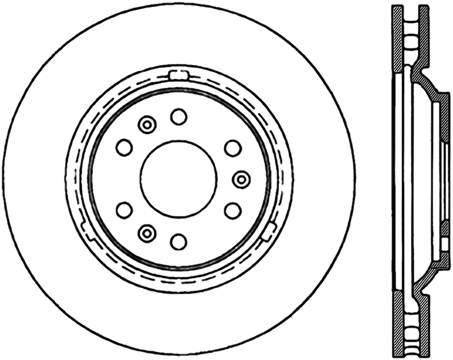 STOPTECH - StopTech Sport Cross-Drilled & Slotted Disc Brake Rotors - SOH 127.62082L