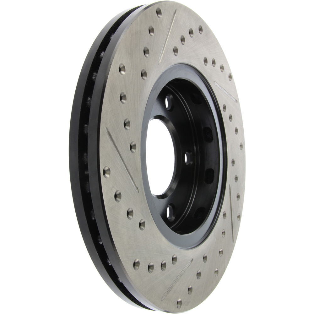 STOPTECH - StopTech Sport Cross-Drilled & Slotted Disc Brake Rotors - SOH 127.67049L