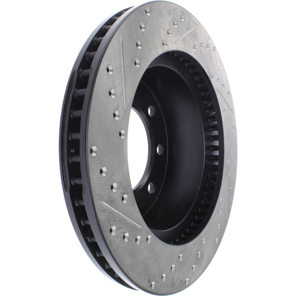 STOPTECH - StopTech Sport Cross-Drilled & Slotted Disc Brake Rotors (Front Left) - SOH 127.67061L