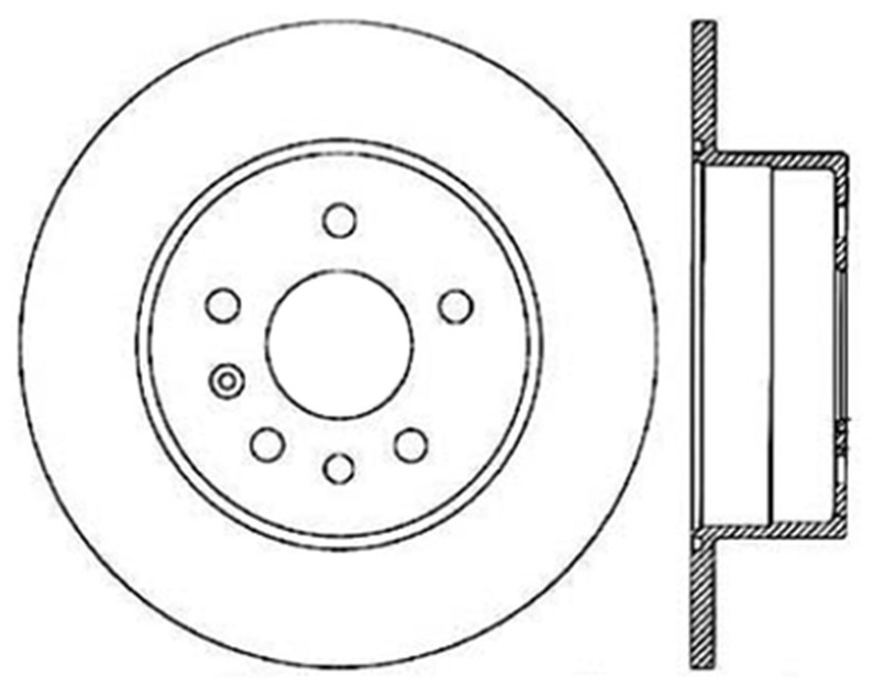 STOPTECH - StopTech Sport Drilled Disc (Rear Left) - SOH 128.38011L