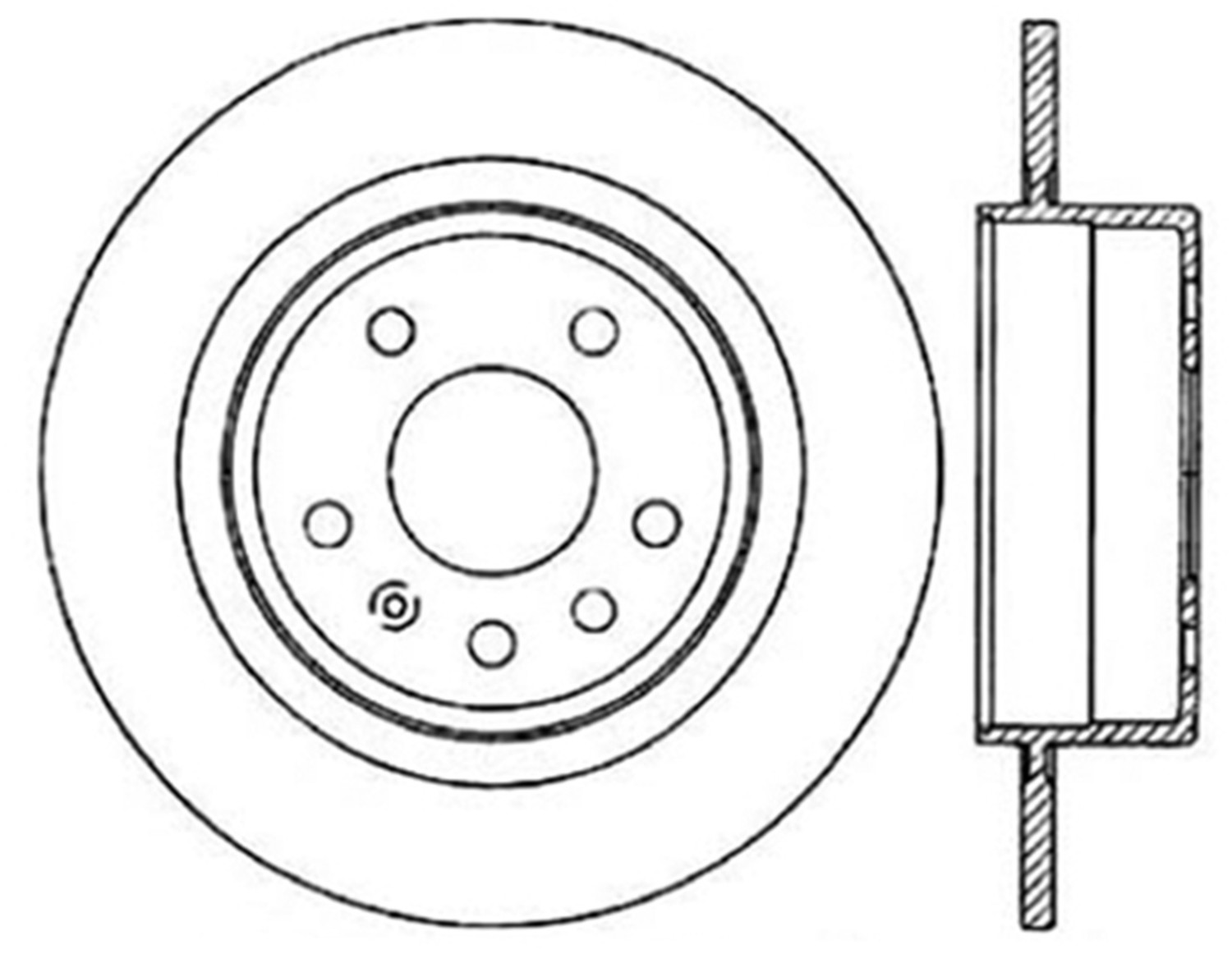 STOPTECH - StopTech Sport Drilled Disc (Rear Left) - SOH 128.38013L