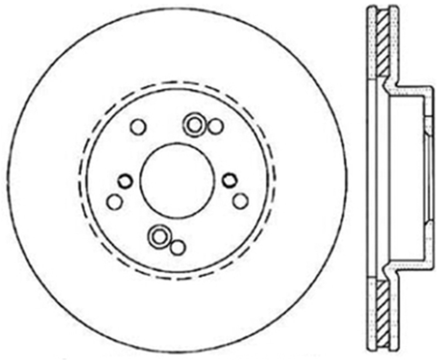 STOPTECH - StopTech Sport Drilled Disc (Front Right) - SOH 128.40046R
